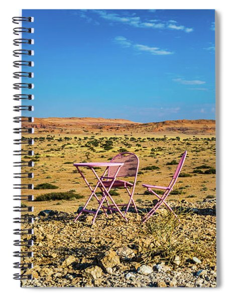 Refreshments Pit Stop In The Middle Of Nowhere Spiral Notebook