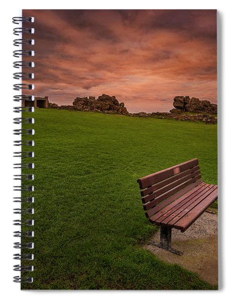 Relaxing At St Ives Cornwall Spiral Notebook