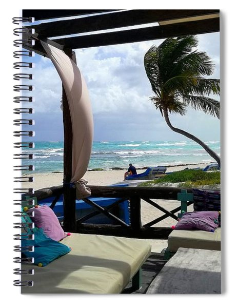 Relaxing In Tulum, Mexico Spiral Notebook
