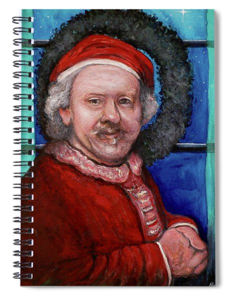 Rembrandt Santa Spiral Notebook