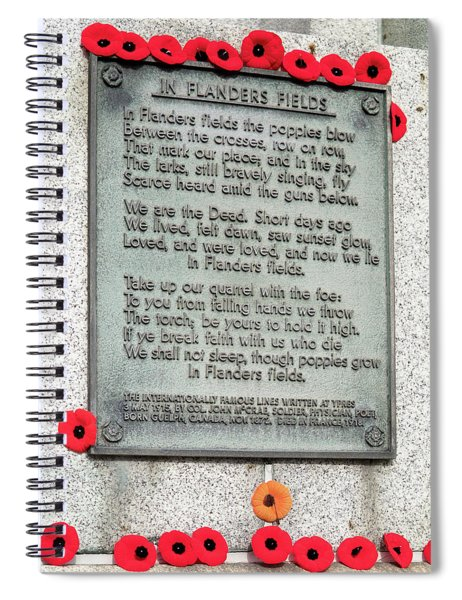 Remembrance Day Spiral Notebook