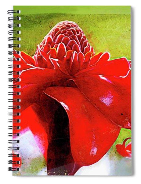 Resplendent Red Spiral Notebook