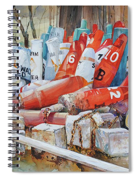 Resting Channel Markers Spiral Notebook