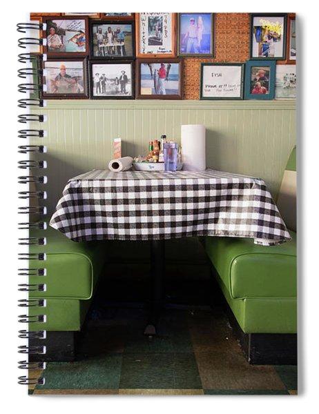 Restaurant Booth Spiral Notebook