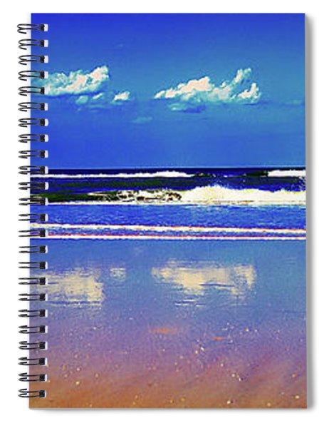 Retieiees Lawn Chairs On The Beach Surf  Spiral Notebook