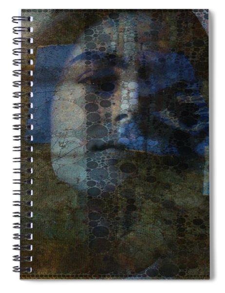 Retro _ Behind Blue Eyes  Spiral Notebook