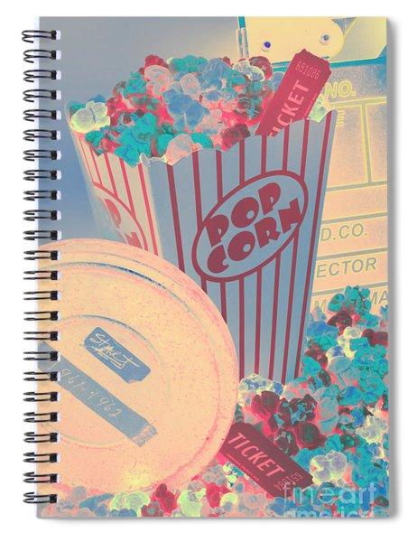 Retro Flicks Spiral Notebook