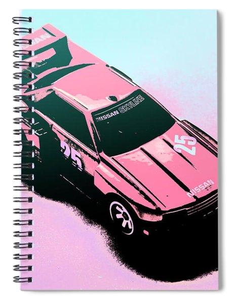 Retro Race Colours Spiral Notebook