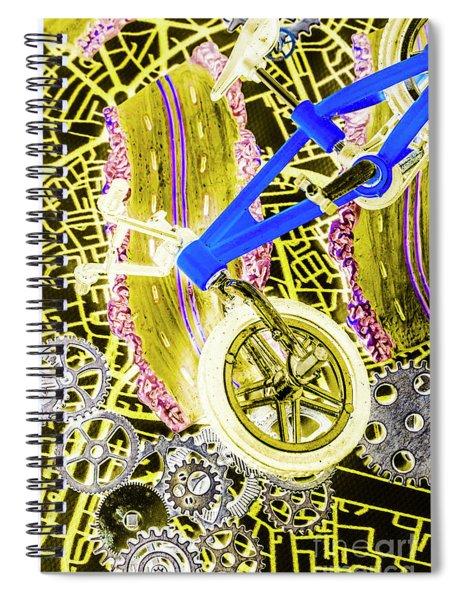 Retro Racer Spiral Notebook