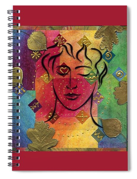 Spiral Notebook featuring the mixed media Reveal Your Beauty by Koka Filipovic