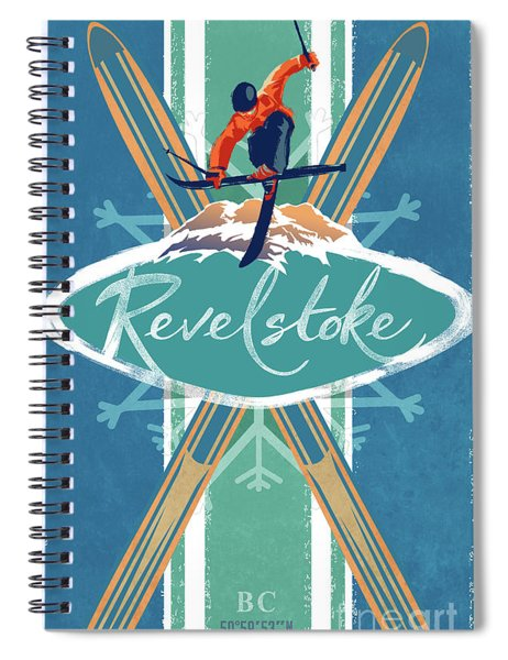 Revelstoke Ski Poster Spiral Notebook