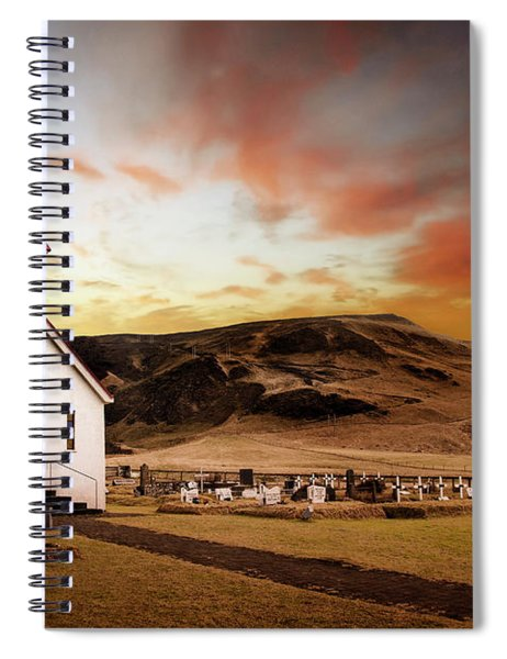 Reyniskirkja Lutheran Church In Iceland Spiral Notebook