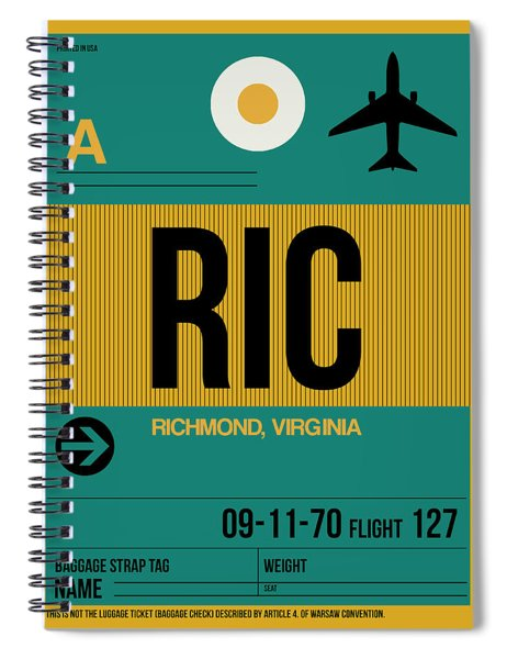 Ric Richmond Luggage Tag II Spiral Notebook