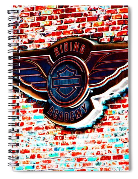 Riding Academy Sign In Solar Colors  Spiral Notebook