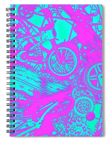 Riding Retro Routes Spiral Notebook