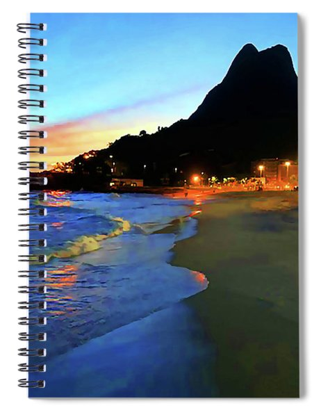 Rio Two Brotherssunset Spiral Notebook