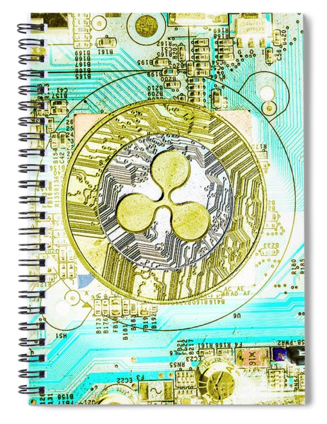 Ripple Effect Spiral Notebook