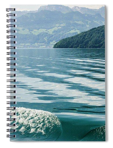 Ripples On Lake Lucerne Spiral Notebook