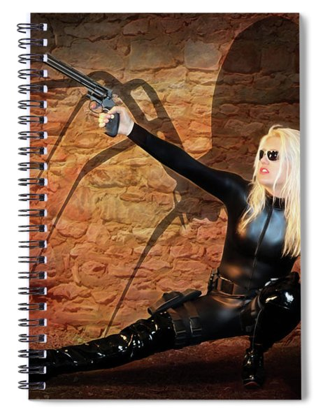 Rise Of The Black Widow Spiral Notebook