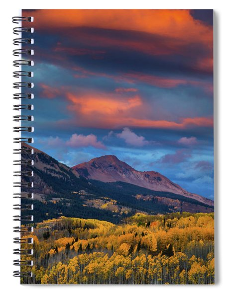 Spiral Notebook featuring the photograph Rising Color  by John De Bord