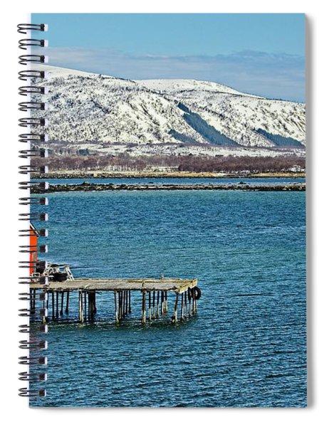 Risoyhamn Boathouse, Norway Spiral Notebook