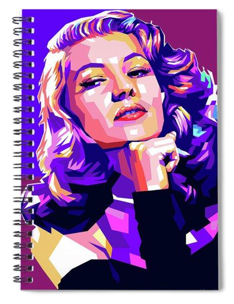Rita Hayworth Illustration Spiral Notebook