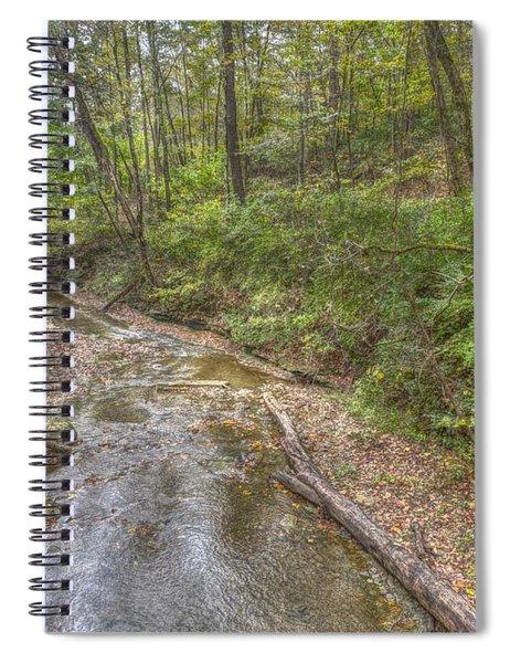 River Flowing Through Pine Quarry Park Spiral Notebook