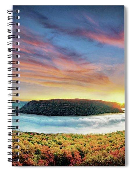 River Of Fog Spiral Notebook