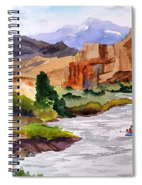 River Rafting In Montana Spiral Notebook