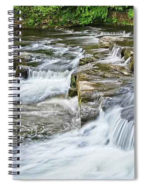 River Swale Waterfalls At Richmond, Yorkshire Spiral Notebook