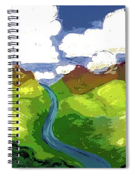 River To Sky Spiral Notebook