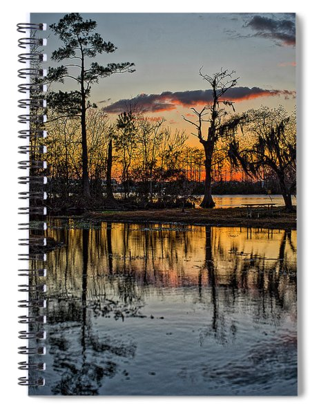 Riverside Sunset Spiral Notebook