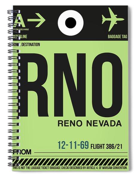 Rno Reno Luggage Tag I Spiral Notebook