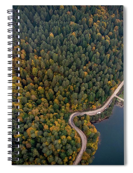 Road Inside The Forest Spiral Notebook
