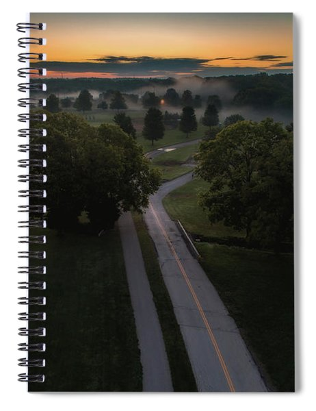 Road To Fog Spiral Notebook