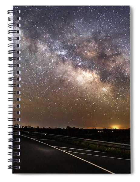 Road To Milky Way Spiral Notebook