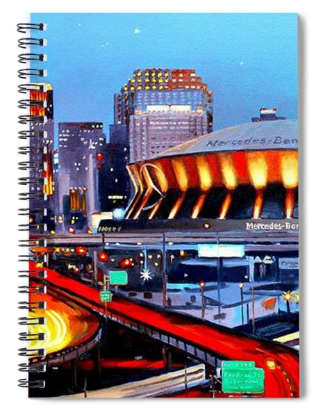 Road To The Dome Spiral Notebook
