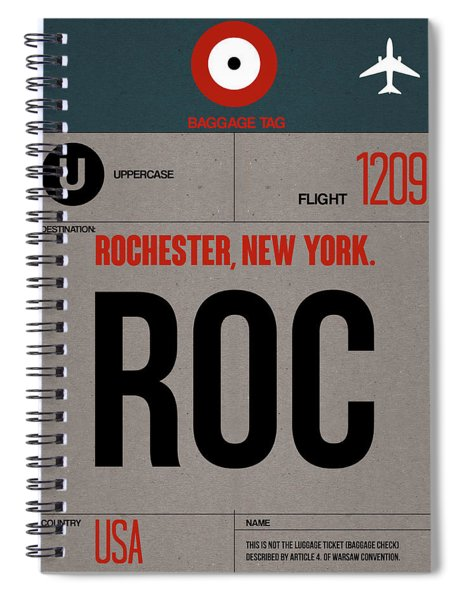 Roc Rochester Luggage Tag I Spiral Notebook