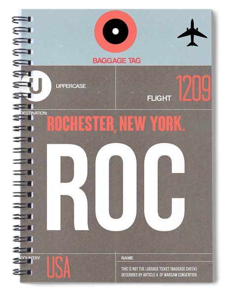 Roc Rochester Luggage Tag II Spiral Notebook