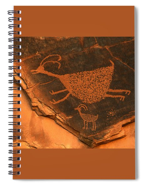 Rock Art At Eye Of The Sun Arch Spiral Notebook