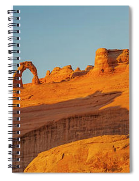 Rock Formation With Delicate Arch Spiral Notebook