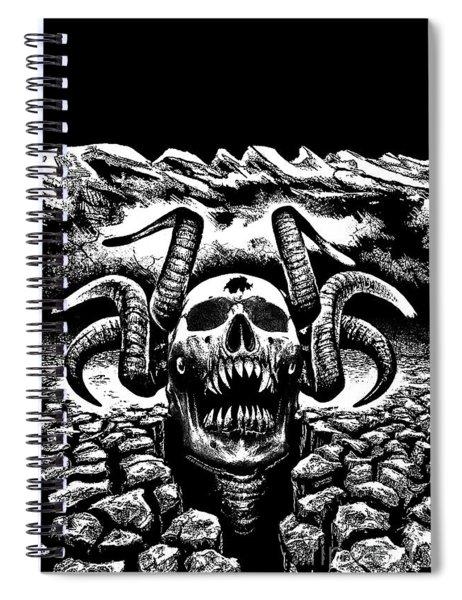 Rock The Hell Spiral Notebook