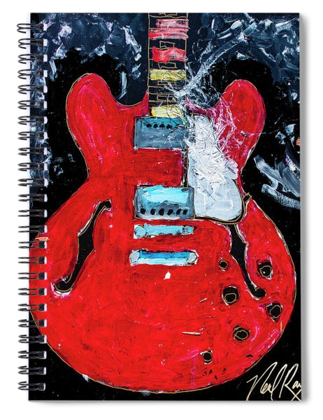 Rockabilly Red Spiral Notebook