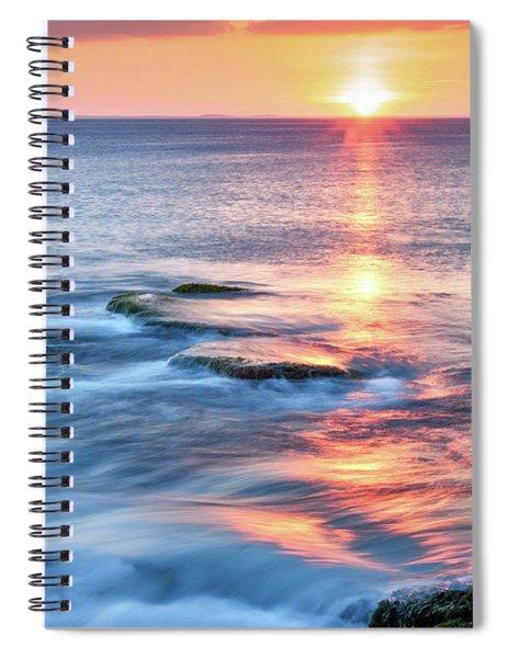 Rockport Pastel Sunset Ma. Spiral Notebook