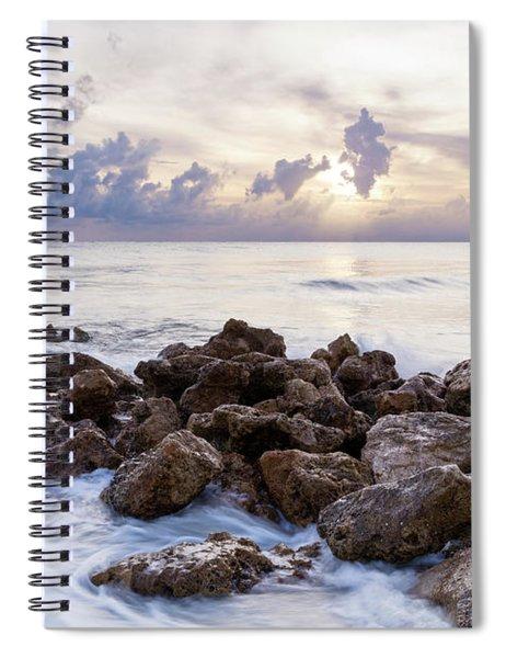 Rocky Beach At Sunset Spiral Notebook by Brian Jannsen
