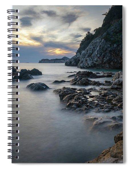 Rocky Coast Near Dubrovnik Spiral Notebook