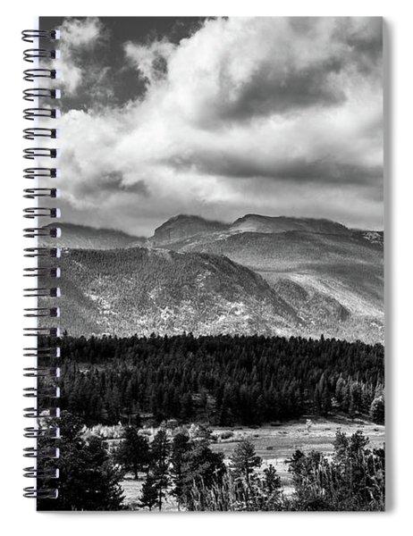 Rocky Foothills Bw Spiral Notebook