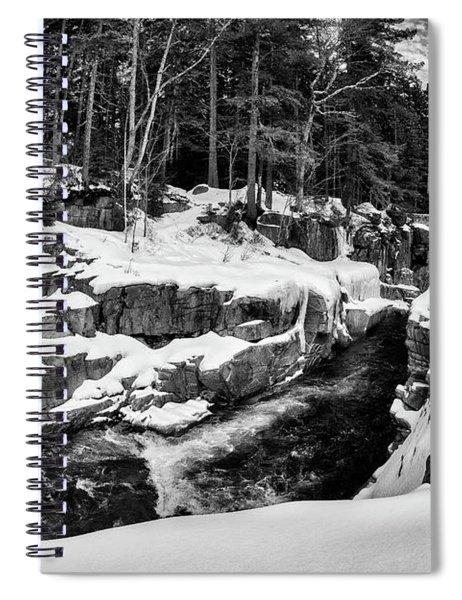 Rocky Gorge Foot Bridge N H Spiral Notebook