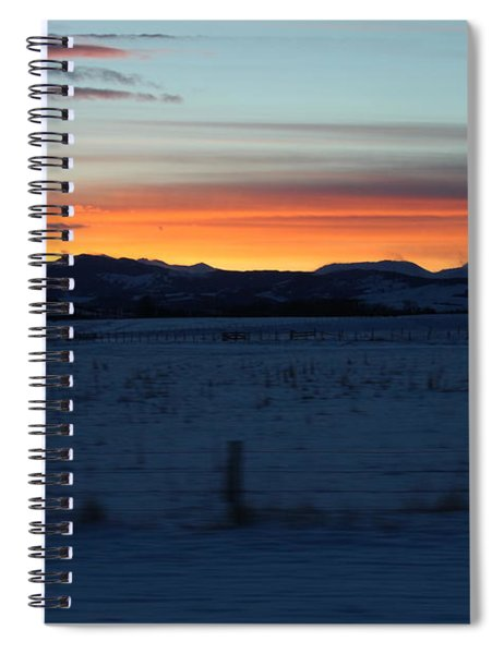 Rocky Mountain Sunset Spiral Notebook