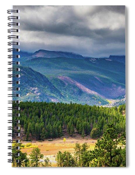 Rocky Mountains - Green Spiral Notebook